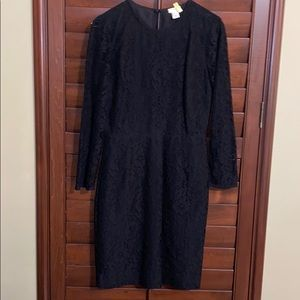 Jcrew Black lace dress
